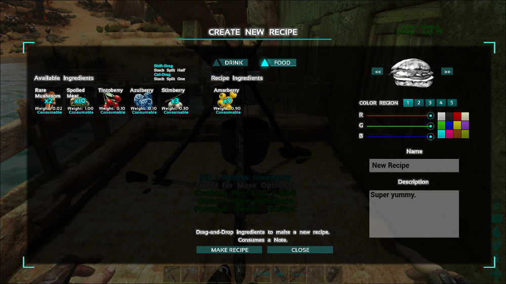 Creating Custom Recipes Ark Survival Evolved