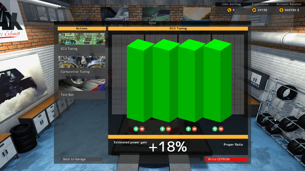 ECU Tuned to +18% and Proper Ratio in Car Mechanic Simulator 2015
