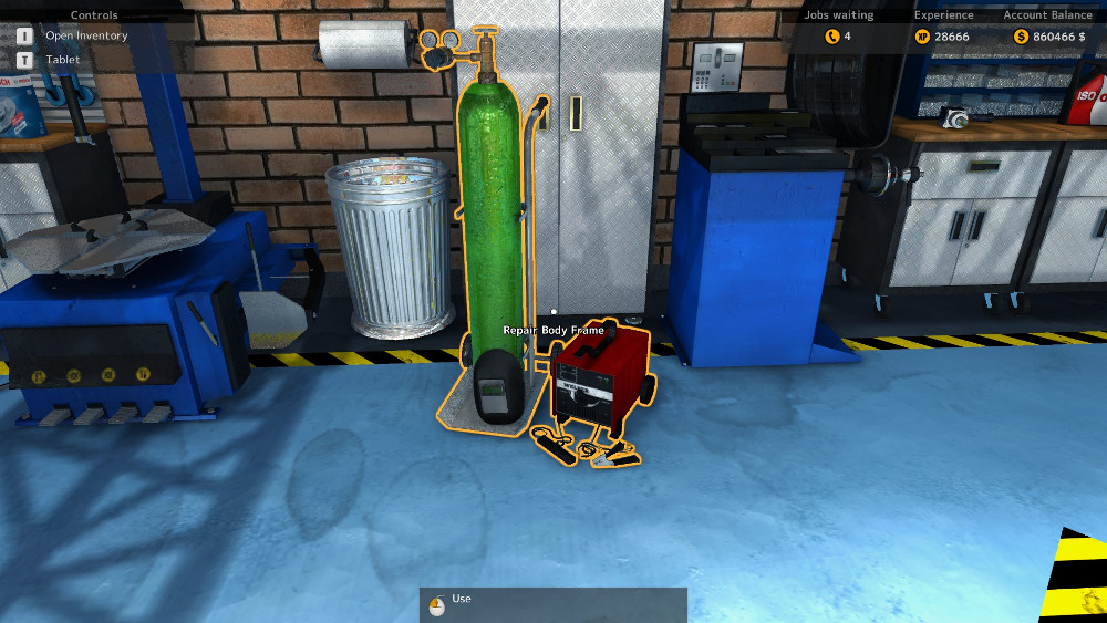 A Welder was added to Car Mechanic Simulator 2015 and using it is required to fix the frame of the vehicles.