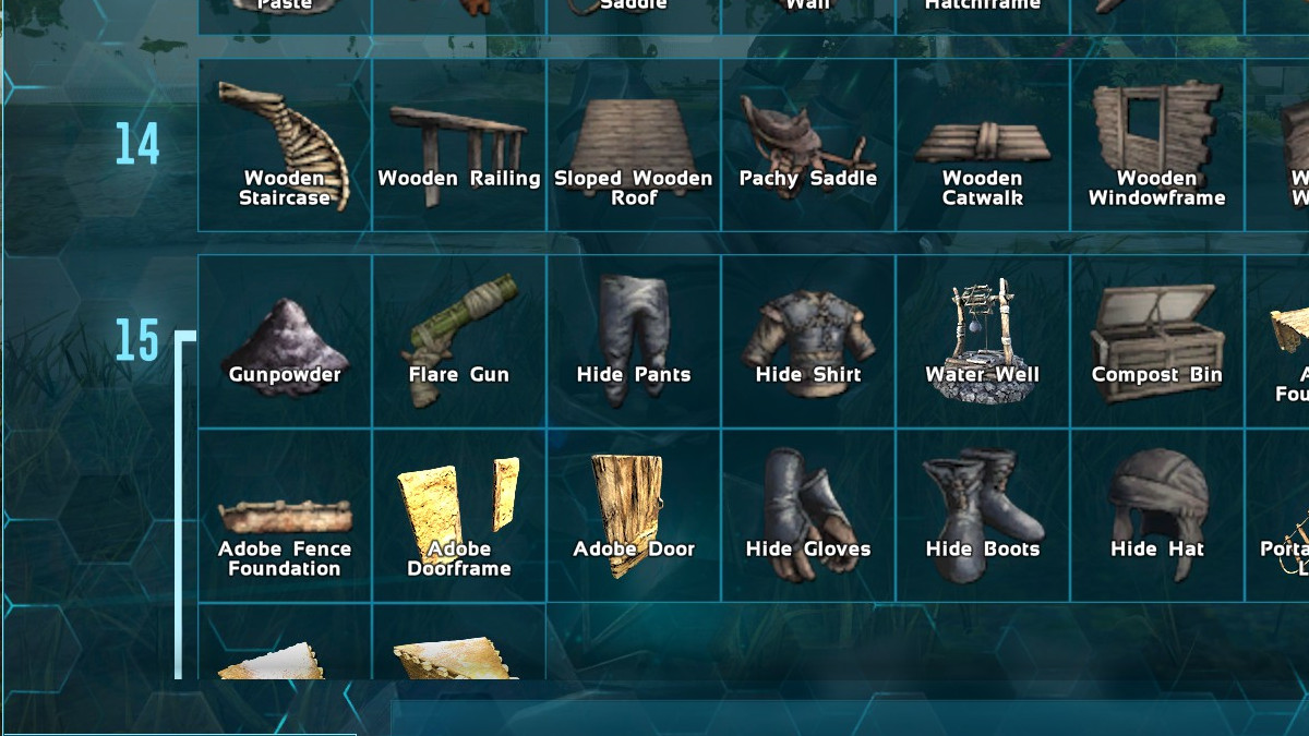 Listing of Item & Creature IDs for use with admin commands and server configuration in Ark Survival Evolved.