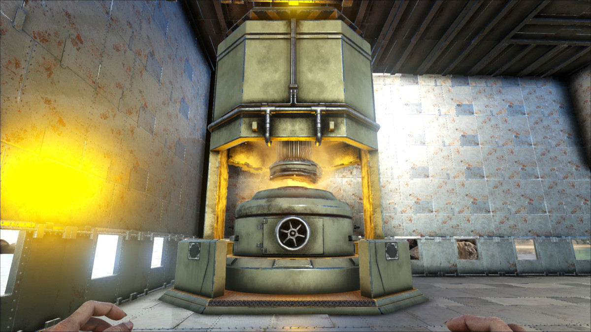 The Industrial Forge is a huge construct that can mass process resources in Ark.