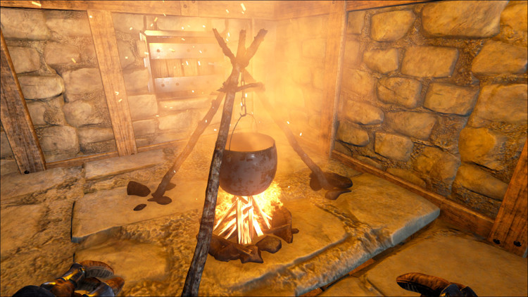 The cooking pot in Ark can be used to create the Rockwell Recipes as well as custom RP recipes.