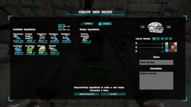 By creating custom recipes in Ark you can create your own special potions and protective items.