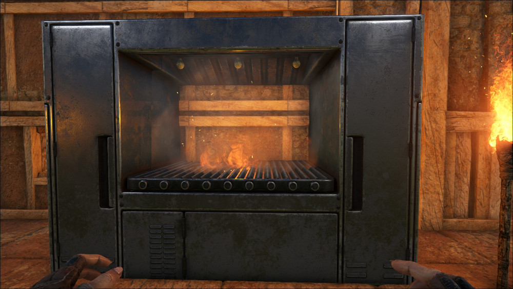 The Industrial Grill is the best way to cook large quantities of food quickly in Ark Survival Evolved. It cooks multiple pieces of food unlike the other cooking stations and is much faster.