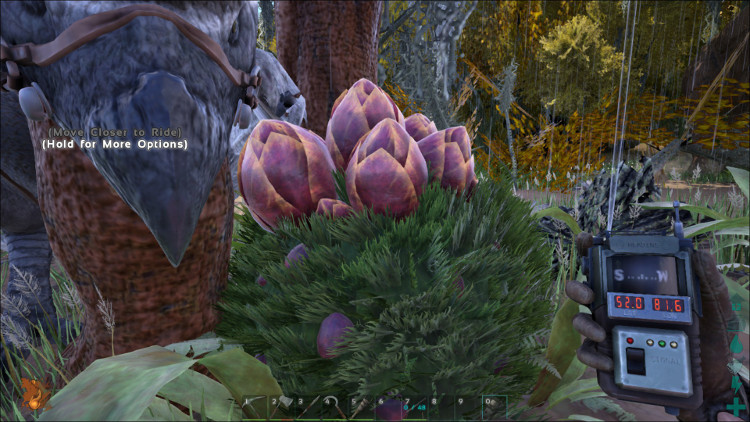 Plant Species X is a rare find on the Ark, but the plant quickly grows into an almost maintenance-free defensive turret.