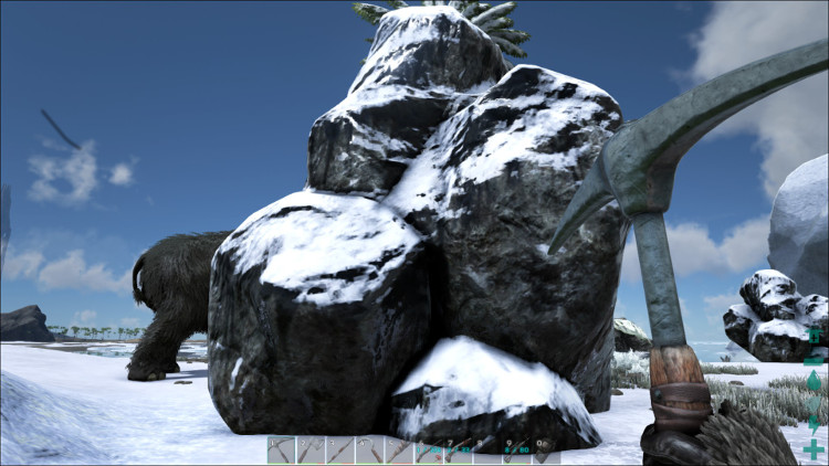 Here we have a Surface Oil Deposit from the Snow Biome on the Ark.
