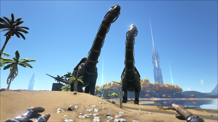 The Brontosauraus, or Bronto, is possibly the ultimate machine for harvesting Thatch, berries and seeds in Ark.
