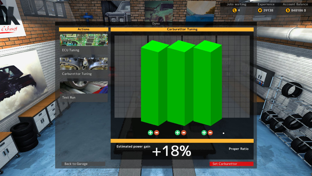 Tuning a Carburetor In Car Mechanic Simulator 2015 can be quite a frustrating headache unless you know the trick. Let us show you how to tune them to 18%.