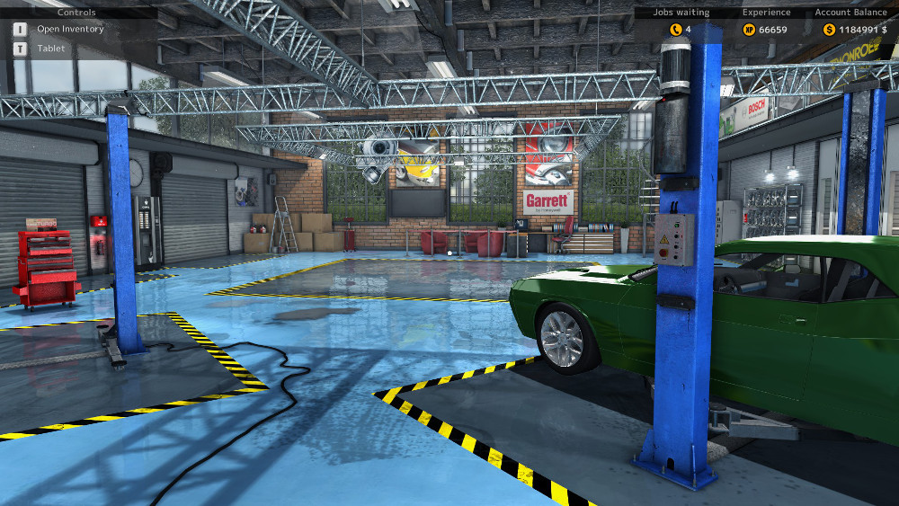 Get acquainted with your garage along with the available tools and upgrades in Car Mechanic Simulator 2015.